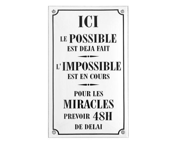 Le Possible ... - Plaque émaillée