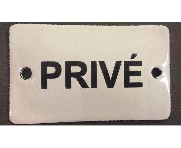 Privé - 6 x 10 cm - Plaque émaillée