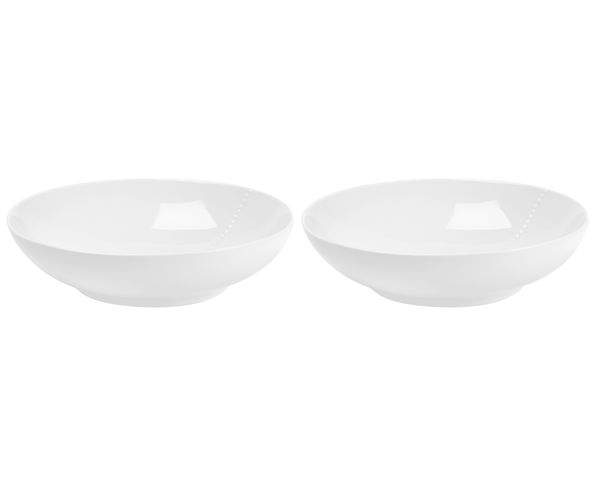 Set de 2 bols To have & To Hold porcelaine blanc