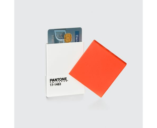 Porte Carte de Visite et de Crédit Pantone Tangerine Tango - 17-1463