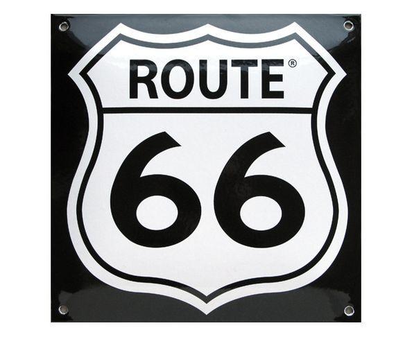 Route 66 - Plaque émaillée