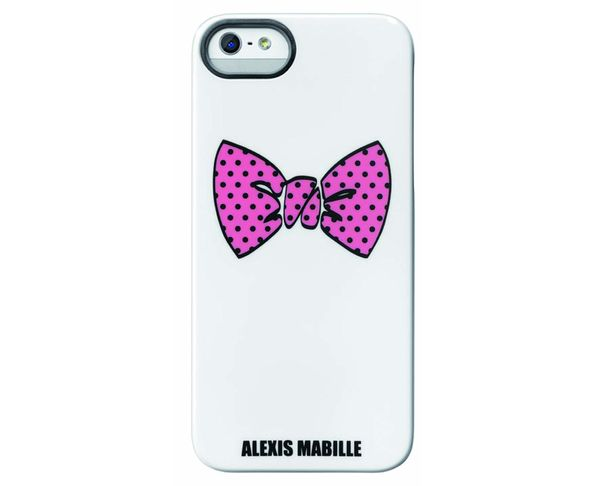 "Coque Alexis Mabille iPhone 5 IMD  ""Pink on White"""