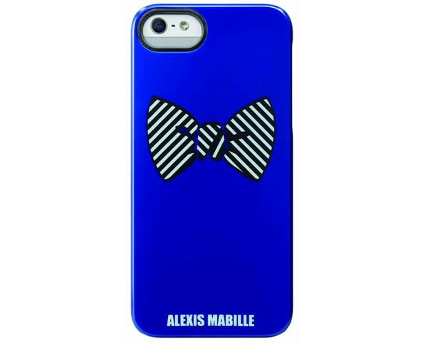 "Coque Alexis Mabille iPhone 5 IMD ""Yellow on Blue"""