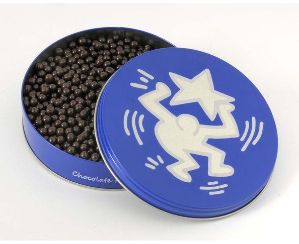 Boite étoile collector Keith Haring - perles de chocolat noir Valrhona