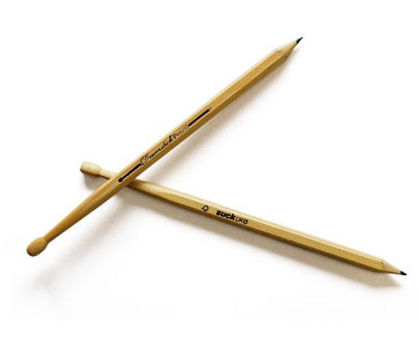 Crayons 'Baguette de batterie'