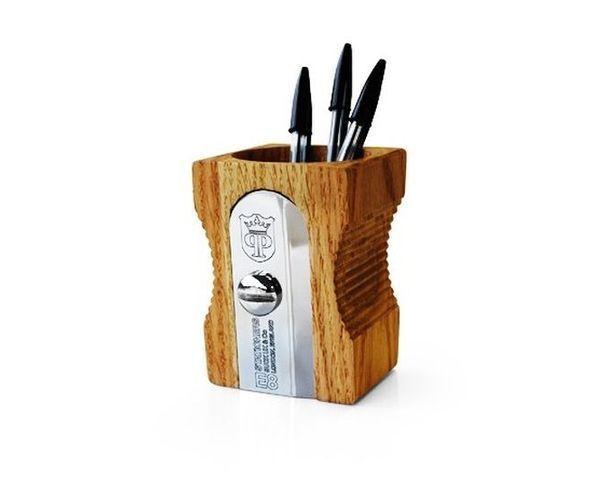 Pot à crayon imitation taille crayon