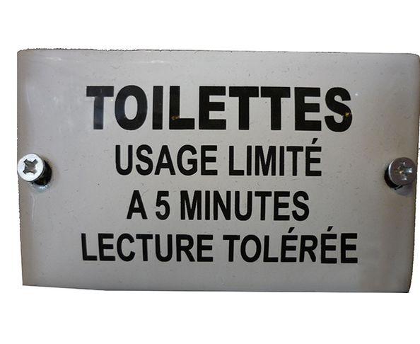 Toilettes, usage ... - Plaque émaillée