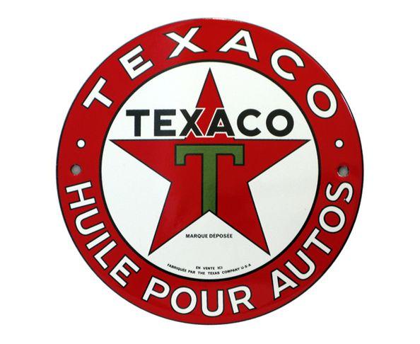 Texaco - Plaque émaillée