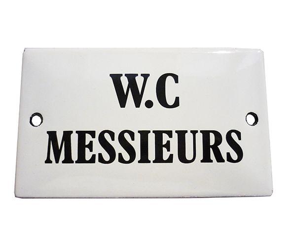 WC Messieurs - Plaque émaillée 60 x 100 mm