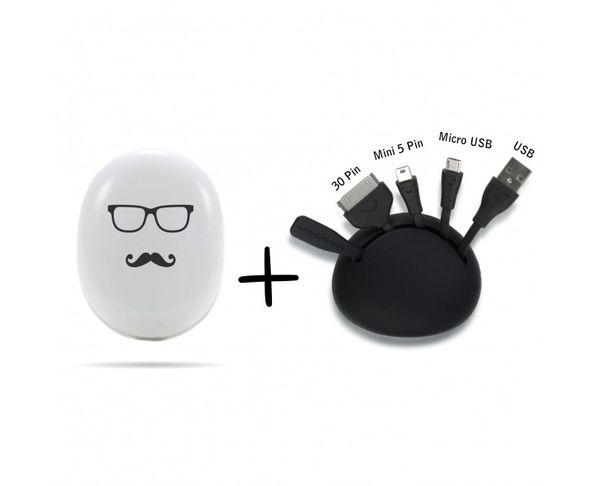 Chargeur et adaptateur Beam Moustache - Xoopar