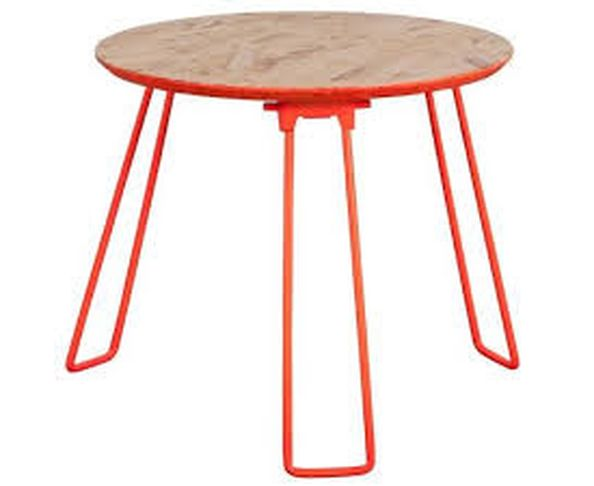 Table d'appoint OSB L orange fluo