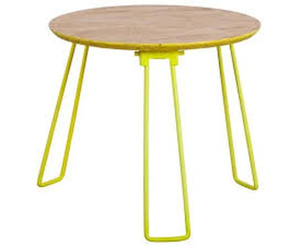 Table d'appoint OSB L jaune fluo