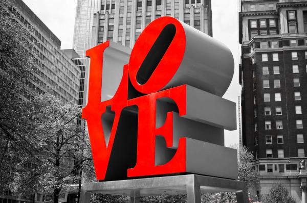 """""""Love Statue"""", emblème du Pop Art, Philadelphie"""
