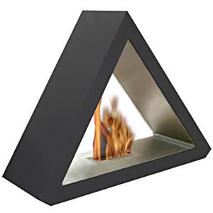 cheminée triangulaire au bioéthanol