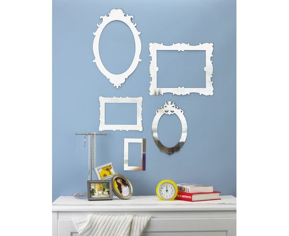 Stickers miroir design free miroir design mural moderne x for Stickers miroir