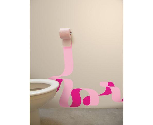 Stickers muraux la solution efficace et pas ch re - Decorer ses toilettes de facon originale ...